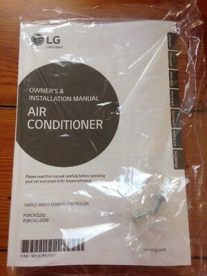 LG Manual AC Air Conditioner Simple Wired Remote Controller Thermostat PQRCVCL0Q