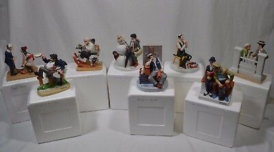 Lot of 8 Authentic - The 12 Norman Rockwell Porcelain Figurines The Danbury Mint