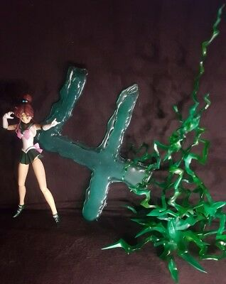 Custom Sailor Jupiter effects green lightning & symbol no figure figuarts moon