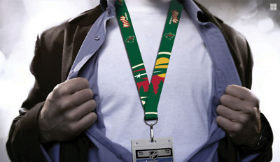 Minnesota Wild Lanyard, Green with Jumbo Logos