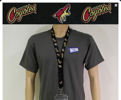 Arizona Coyotes Lanyard, Black