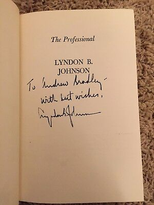 Lyndon B. Johnson Signed The Professional Book President White House Autograph