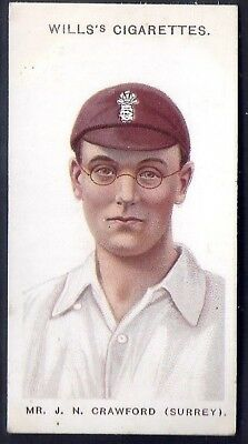 "WILLS-CRICKET ERS 1908 (SMALL ""s"")-#35- SURREY - CRAWFORD"