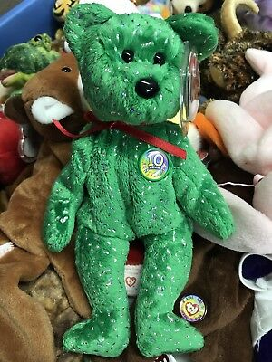 TY beanie babies DECADE 10 years Bear EXCELLENT CONDITION!! MINT TAG