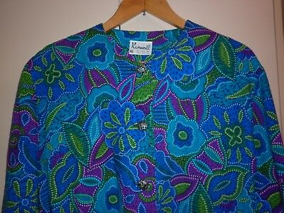 VINTAGE 1980s BRIGHT SUMMER JACKET   SIZE 16 EXCELLENT CONDITION