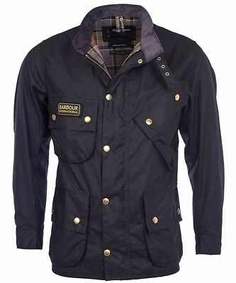 Barbour International A7 Waxed Cotton Motorcycle Jacket Size 44 Made in UK!