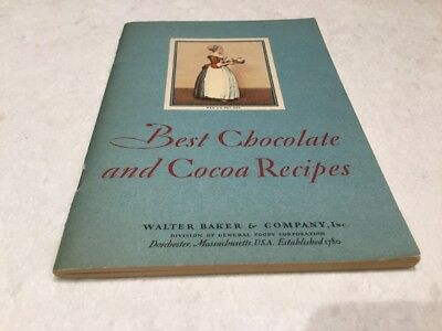 Baker's Chocolate BEST CHOCOLATE AND COCOA RECIPES by Walter Baker & Company
