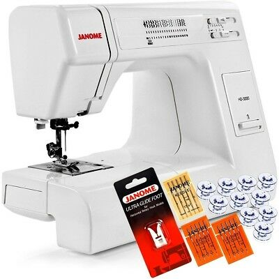 New Automatic Needle Janome HD3000 Heavy Duty Sewing Machine 5Piece VIP Package!