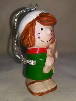 Vtg Peanuts 1982 Determined Peppermint Patty Christmas Ornament Gingerbread Man