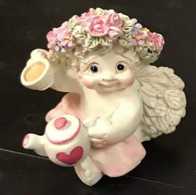 "DREAMSICLES: ""HIGH TEA"" 1998 - #DC021 Cherub w/ Teapot & Tea Cup (NOS)"