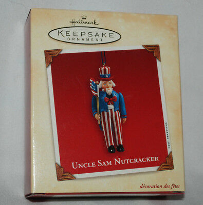 NIB Vintage 2003 Hallmark Uncle Sam Nutcracker Christmas Ornament