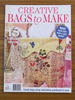 Creative Bags To Make 2013 Tote Carryall Patchwork Applique Embroidery