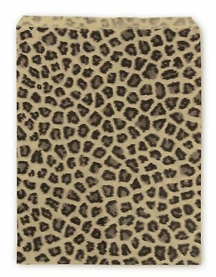 Paper Jewelry Bags 8.5 x 11 Leopard (Package of 100) New