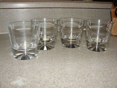 Johnnie Walker Crystal Rocks Glasses Heavy Weight Set Of 4 Limited Edition Black