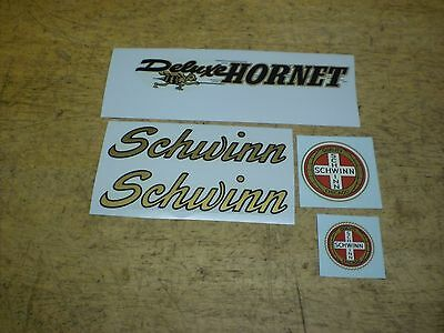 Vintage Schwinn Approved Deluxe Hornet Bicycle Chainguard Decal Set