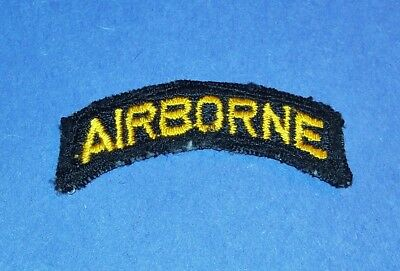 RARE ORIGINAL POST WW2 GERMAN MADE 101st AIRBORNE DIVISION PATCH TAB!