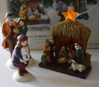 """NEW WORKS SET Department 56 Christmas in the City """"Visiting the Nativity"""" #58956"""