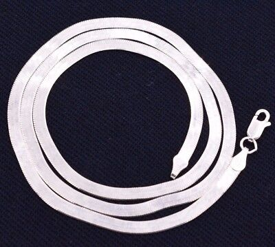 3mm Flexible Herringbone Chain Necklace Real Solid Sterling Silver 925 Italy