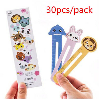 30Pcs/Pack Cute Animals Paper Bookmarks Book Holder School Stationery Kids Gift