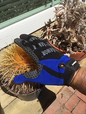 """The """"CACTUS HANDLER in BLUE"""" gloves MPN# 4010-Large (9) Made By HexArmor"""