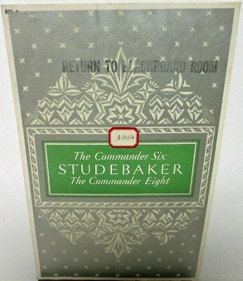 1929 Studebaker Commander Six & Eight Color Sales Brochure Original