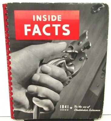 1941 Studebaker Dealer Inside Facts Salesmen Manual Champion Commander Pickup