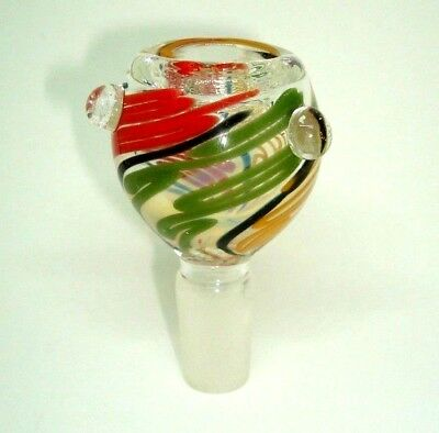 14mm/ Glass Slide Bowl Rasta Swirl- Free Shipping BUY 2 GET 1 FREE