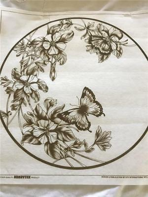 Hobby Tex - Fabric Painting  NEW CONDITION !!  Flowers and Butterfly  x 1