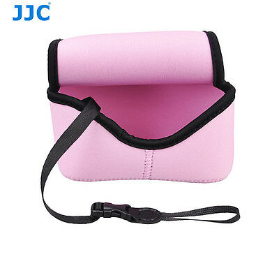 JJC Pink Mirrorless Camera Pouch Case for Olympus E-PL7 E-PL6 +14-42mm II R Lens