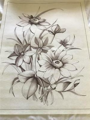 Hobby Tex - Fabric Painting  NEW CONDITION !!  Flowers     x 1 Big Size