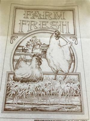 Hobby Tex - Fabric Painting  NEW CONDITION !!  Farm With Chickens   x 1