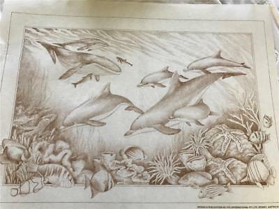 Hobby Tex - Fabric Painting  NEW CONDITION !! Sea Theme Dolphins & Whales   x 1