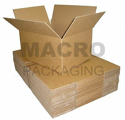 100 Single Wall Boxes cardboard A4 Cartons 12x9x6""