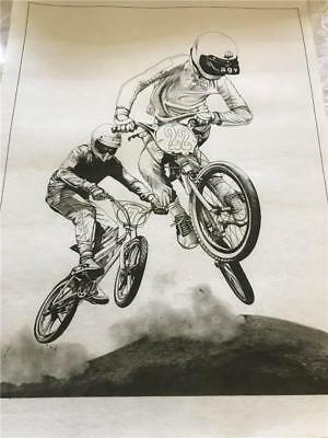 Hobby Tex - Fabric Painting  NEW CONDITION !!  With BMX Bikes  x 1  Big Size
