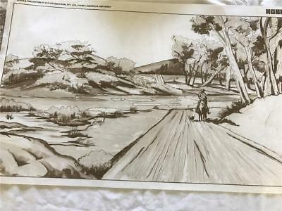 HobbyTex - Fabric Painting  NEW CONDITION !!  Australia Bush     x 1 Big Size