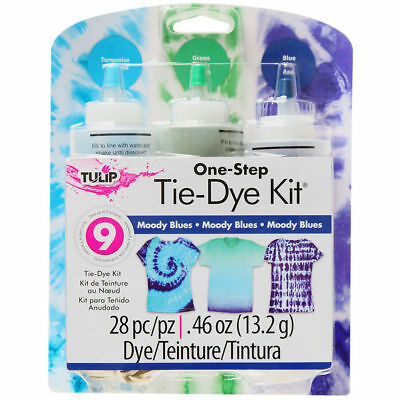 Tulip One Step Tie Dye Kit - 3 Colour - Moody Blues - 9 Projects - FAST 'N FREE