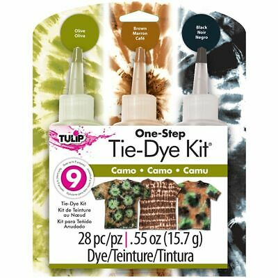 Tulip One Step Tie Dye Kit - Camouflage - 3 Colour - 9 Projects