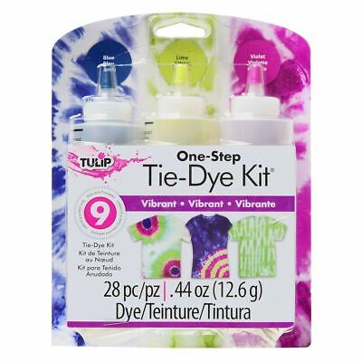 Tulip One Step Tie Dye Kit - 3 Colour - Vibrant - Up to 9 Projects FAST 'N FREE