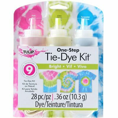 Tulip One Step Tie Dye Kit - 3 Colour - Bright - Up to 9 Projects - FAST 'N FREE
