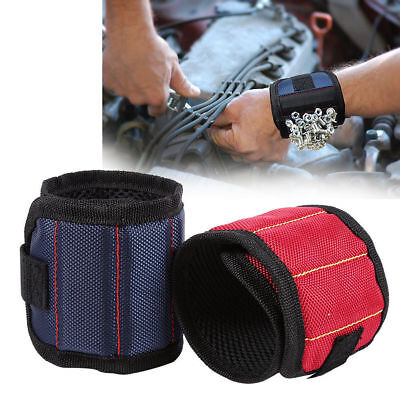 Magnetic Wristband Pocket Tool Belt Pouch Bag Screws Holding Working Project UK