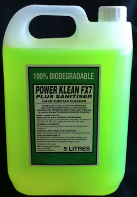 Powerklean FX7 -  Total Germ Kill. 100% Kill Rate (Concentrate)