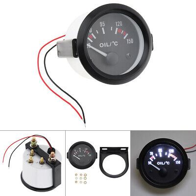 2Inch 52mm LED 50-150 Celsius Degree Car Pointer Oil Temperature Temp Gauge