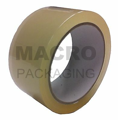 6 x packing parcel tape 48mm x 66M  CLEAR / TRANSPARENT