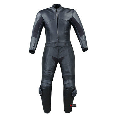 Womens 2Pc 2 Pc Motorcycle Leather Racing Suit Armor M