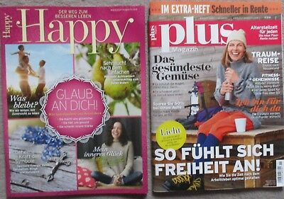 Zeitschrift Plus Magazin & Happy  Nr.11 November 2017 + Extra Heft