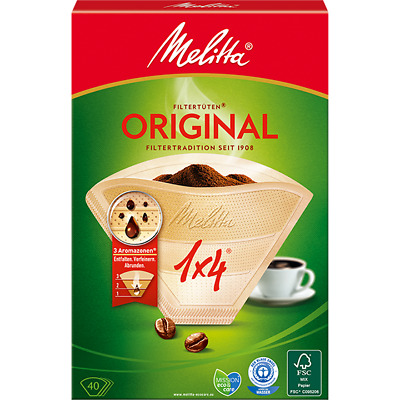 8 PACKS OF 40 GENUINE MELITTA FOUR CUP COFFEE FILTER PAPERS 1 x 4 COFFEE MAKING