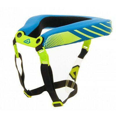 Acerbis YOUTH MX Motocross Race Neck Collar - Fluo Yellow/Blue