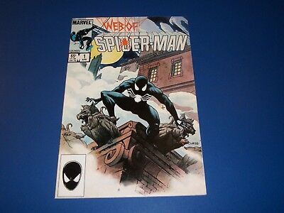 Web of Spider-man #1 Bronze age Black Costume Key Wow VF Beauty-