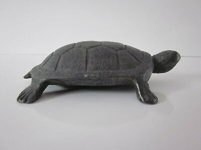 Vintage Cast Iron Turtle Hollow 5 x 3 3/4""