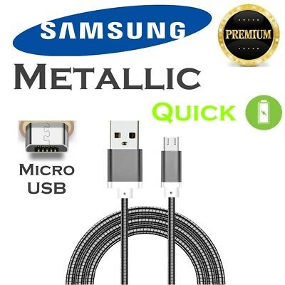 Fast Charger Cable Metal Lead Charge Cord for Samsung Galaxy S6 S7 Edge Note 4 5